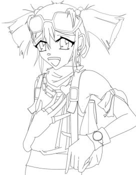 On her way out LINEART by Atomic-Envy