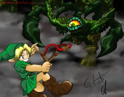 Link vs Gohma by elchinoga