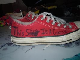 This shoe is a curse by Loveistheknife