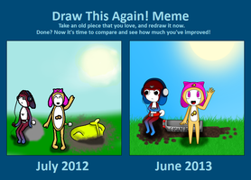 Draw This Again Meme by Idellechi