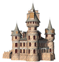 Castle 24 PNG Stock by Roys-Art