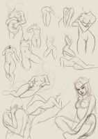 Female figure studies by cryptfever