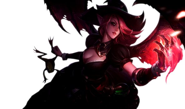 [League of Legends] Bewitching Morgana (Render) by PopokuPinguPop90