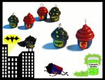 Superhero Cupcakes by chat-noir