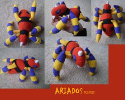 Ariados Plushie by Silverbirch
