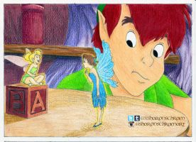 Peter Pan, Tinkerbell and Wendy - 'Fairy' by Sharsel