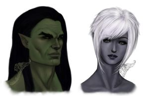 Lineage II - Rhodas and Esther's portraits by Manamba