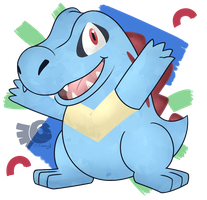 Totodile! by NokuCroc