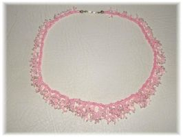 Rose coral necklace by jasmin7