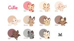 Cutie Characters by Daieny