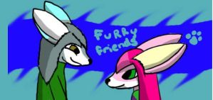Iron Paws and Fox hanging out by FoxGoddess44