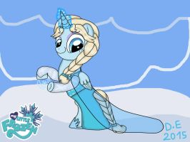 My Little Frozen Elsa Wallpaper 3 by Dulcechica19