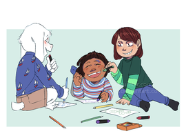 babies doin some coloring by xlerotl