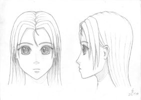 Manga attempt front+sideview by Stallnig