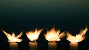 Candle flowers by Snoeffel
