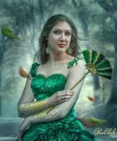 The Woman in Green by AliaChek