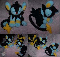 Request Sleeping Luxio plush by YutakaYumi