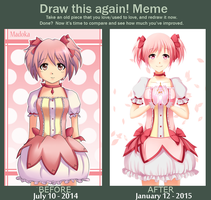 Draw this again - Madoka by FeliciaSilvermoon
