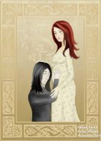 Severus with Pregnant Lily by sindie11
