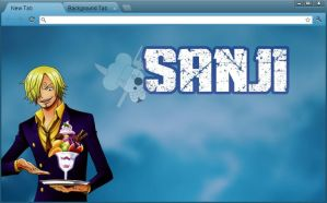 One Piece Google Chrome Theme: Sanji by yohohotralala