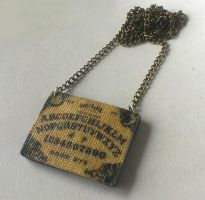 Ouija Board Necklace, Polymer Clay and Canvas by ChroniclesOfKate