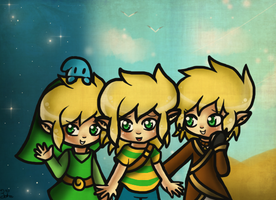 Three Different Links by Jrynkows