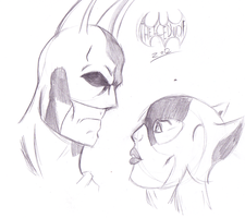 the Bat and the Cat by TheIcedWolf