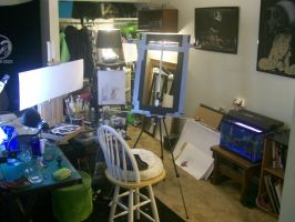 my studio by Thr33biostring