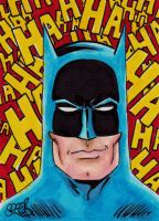 Batman smiling by Spears by markman777