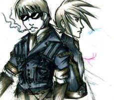 Sketchy RP Cid and Cloud by LaCidiana