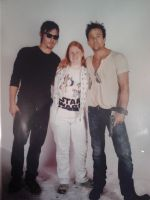 Me between Norman Reedus and Sean Patrick Flanery by wales48
