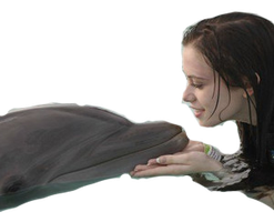 Caitlin Beadles with a Dolphin PNG by Lovechrisbeadles