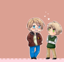 Chibi Hetalia - US x UK by xx-marionette-xx