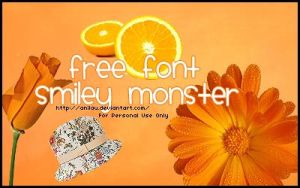 Smiley Monster Font by aNiLaU