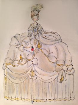Marie Antoinette's robe de cour by AMeanGirl