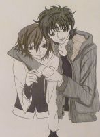 Lelouch and Suzaku by kittykatc666