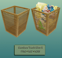 BAMBOO TRASH BINS II by Arclight-17