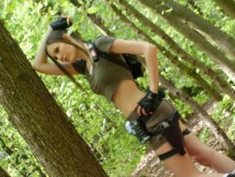 Lara Croft - Woodland by BunniKez