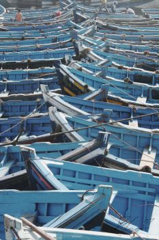 Blue Boats by Daviegunn