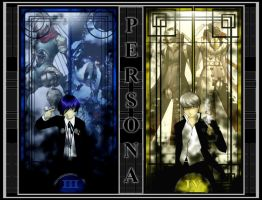 Persona 3 and 4 Fan Art by Sathiest-Emperor