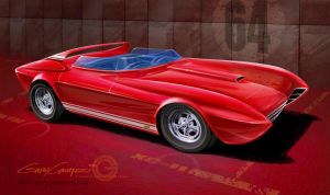 Dave Puhl's custom 1964 Corvette. The XC-II by GaryCampesi