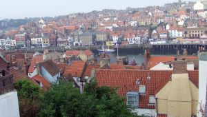 Rooftops over Whitby by PaulineMoss