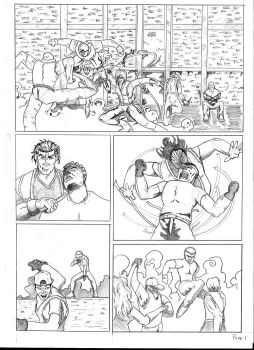Streets of Rage Part 2 Page 1 Pencil by iamthekeho