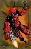Deadpool Digital Colouring by montgomerydigital