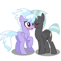 Thunderlane and Cloudchaser Kiss. by 3D4D