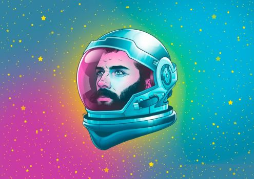 Beard From Outter Space by ismaelalvarez