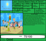 P and F Review: Lawn Gnome Beach Party of Terror by Spongey444