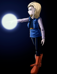 Android 18 by darkkeferas