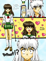 Kagome likes to Tease Inuyasha by Sunbeam482
