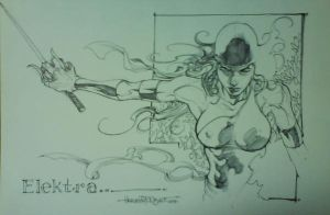 Elektra sketch by harveytsketchbook